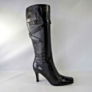 VIA SPIGA Size 8 Black Tall Boots Shoes For Women